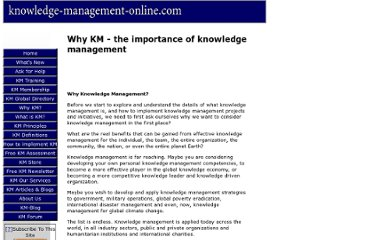 http://www.knowledge-management-online.com/the-importance-of-knowledge-management.html