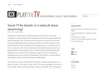 http://www.playthetv.com/opinions/social-tv-for-brands-is-it-really-all-about-advertising/