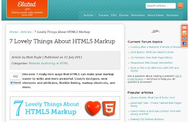 http://www.elated.com/articles/7-lovely-things-about-html5-markup/