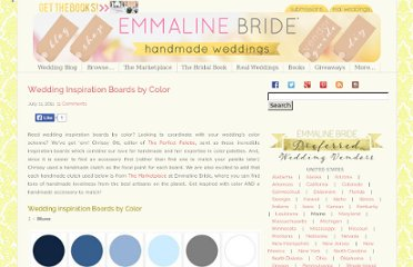 http://emmalinebride.com/planning/wedding-inspiration-boards-by-color/