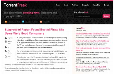 http://torrentfreak.com/suppressed-report-found-busted-pirate-site-users-were-good-consumers-110719/