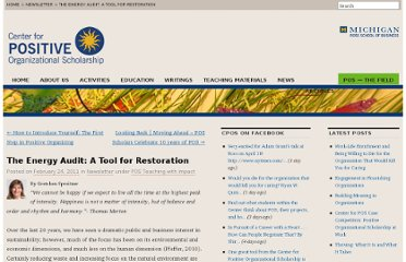 http://www.centerforpos.org/2011/02/the-energy-audit-a-tool-for-restoration/