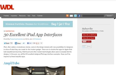 http://webdesignledger.com/inspiration/30-excellent-ipad-app-interfaces