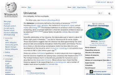 http://en.wikipedia.org/wiki/Universe#Etymology.2C_synonyms_and_definitions