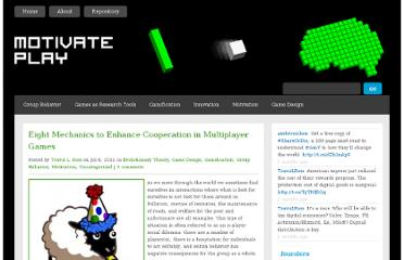 http://www.motivateplay.com/2011/07/eight-mechanics-to-enhance-cooperation-in-multiplayer-games/