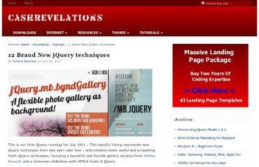 http://cashrevelations.com/magazine/2011/07/12-brand-new-jquery-techniques/