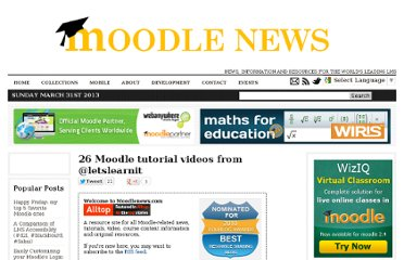 http://www.moodlenews.com/2011/26-moodle-tutorial-videos-from-letslearnit/