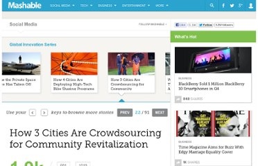 http://mashable.com/2011/07/20/crowdsourcing-city-tech/