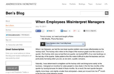 http://bhorowitz.com/2011/07/20/when-employees-misinterpret-managers/