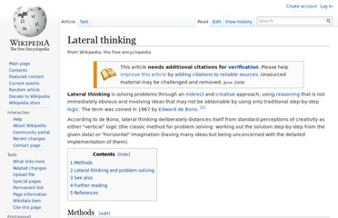http://en.wikipedia.org/wiki/Lateral_thinking