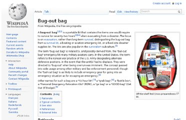 http://en.wikipedia.org/wiki/Bug-out_bag