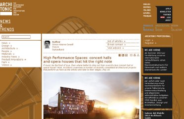 http://www.architonic.com/ntsht/high-performance-spaces-concert-halls-and-opera-houses-that-hit-the-right-note/7000624