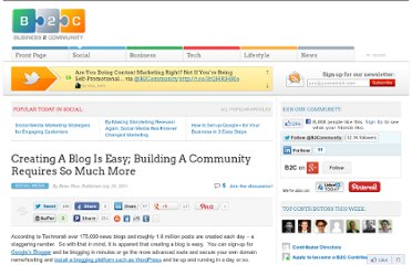 http://www.business2community.com/social-media/creating-a-blog-is-easy-building-a-community-requires-so-much-more-045551