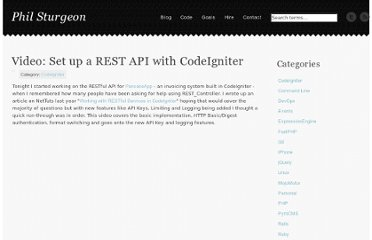 http://philsturgeon.co.uk/blog/2011/03/video-set-up-a-rest-api-with-codeigniter