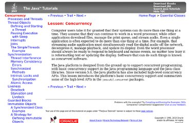 http://download.oracle.com/javase/tutorial/essential/concurrency/