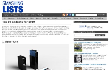 http://www.smashinglists.com/top-10-gadgets-for-2010/
