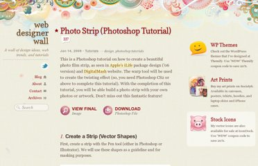 http://webdesignerwall.com/tutorials/photo-strip-photoshop-tutorial