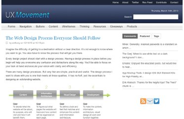 http://uxmovement.com/thinking/the-web-design-process-everyone-should-follow/