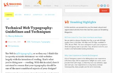 http://coding.smashingmagazine.com/2011/03/14/technical-web-typography-guidelines-and-techniques/