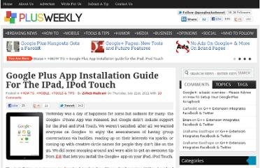 http://plusweek.ly/google-plus-app-installation-guide-ipad-ipod-touch/