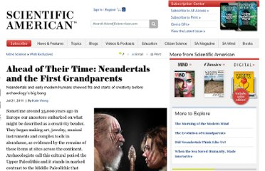 http://www.scientificamerican.com/article.cfm?id=caspari-neandertals-and-the-first-grandparents