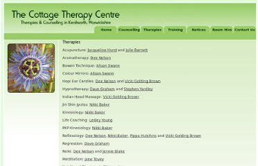 http://www.cottagetherapycentre.co.uk/therapyIndex.php