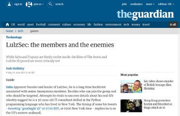 http://www.guardian.co.uk/technology/2011/jun/24/lulzsec-members-and-enemies