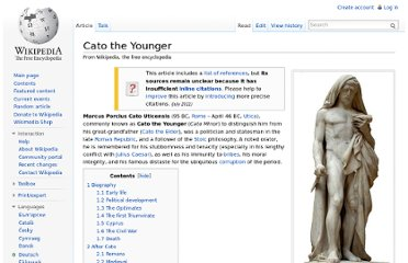 http://en.wikipedia.org/wiki/Cato_the_Younger