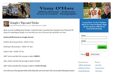http://vinnyohare.com/google-tips-and-tricks/
