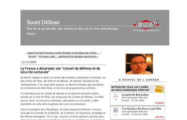 http://secretdefense.blogs.liberation.fr/defense/2009/12/la-france-a-d%C3%A9sormais-son-conseil-de-d%C3%A9fense-et-de-s%C3%A9curit%C3%A9-nationale.html