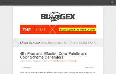 http://aext.net/2011/07/45-free-and-effective-color-palette-and-color-scheme-generators/
