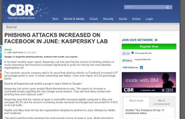 http://media.cbronline.com/news/phishing-attacks-increased-on-facebook-in-june-kaspersky-lab-220711