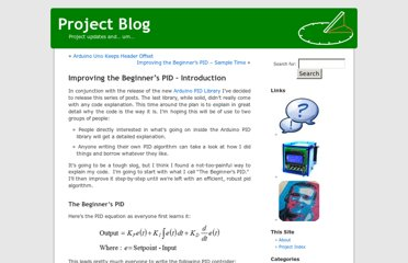 http://brettbeauregard.com/blog/2011/04/improving-the-beginners-pid-introduction/