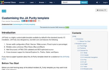 http://docs.joomla.org/Customising_the_JA_Purity_template#Before_You_Start