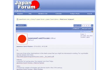 http://www.japanforum.com/forum/japan-travel-advice/38227-must-sees-japan-2.html