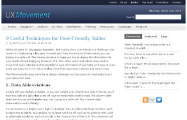 http://uxmovement.com/content/useful-techniques-for-user-friendly-tables/