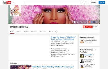 http://www.youtube.com/user/OfficialNickiMinaj?blend=6&ob=5