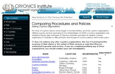 http://www.cryonics.org/comparisons.html