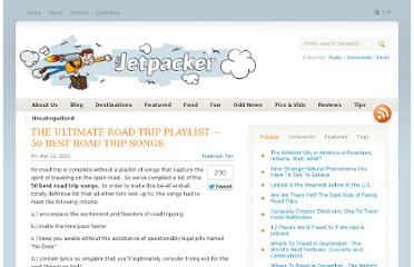 http://thejetpacker.com/the-ultimate-road-trip-playlist-50-best-road-trip-songs/