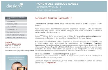 http://www.forum-seriousgames.com/site/home/.html