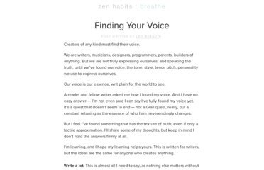 http://zenhabits.net/voice/