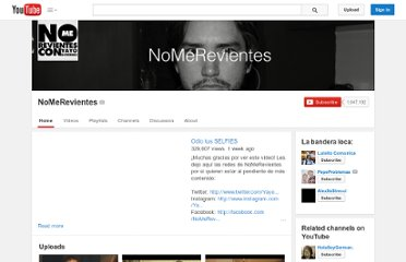 http://www.youtube.com/user/NoMeRevientes