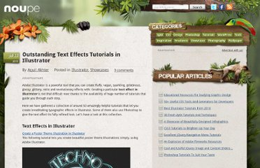 http://www.noupe.com/showcases/outstanding-text-effects-tutorials-in-illustrator.html