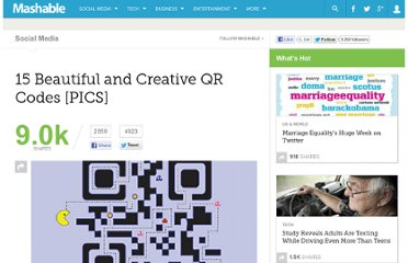 http://mashable.com/2011/07/23/creative-qr-codes/