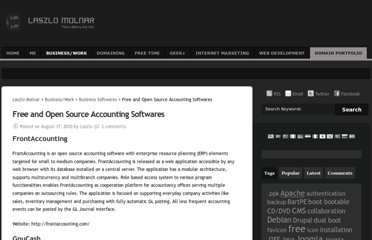 http://www.lmolnar.com/business-work/free-and-open-source-accounting-softwares/