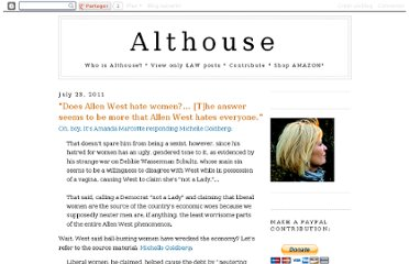 http://althouse.blogspot.com/2011/07/does-allen-west-hate-women-answer-seems.html
