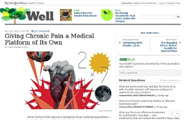 http://well.blogs.nytimes.com/2011/07/18/giving-chronic-pain-a-medical-platform-of-its-own/