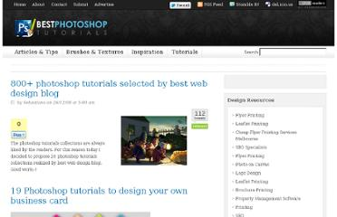 http://bestphotoshoptutorials.net/2008/12/26/800-photoshop-tutorials-selected-by-best-web-design-blog/