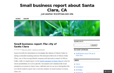 http://santaclarasmallbusiness649.wordpress.com/2011/05/10/small-business-report-the-city-of-santa-clara/