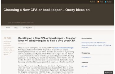 http://bookkeeperorcpa616.wordpress.com/2011/05/11/deciding-on-a-new-cpa-or-bookkeeper-question-ideas-on-what-to-inquire-to-find-a-very-good-cpa/